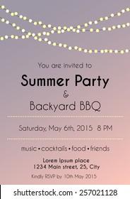 vector illustration of party invitation