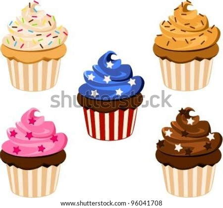 Vector Illustration Party Muffins Stock Vector Royalty Free