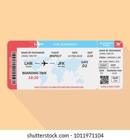 Vector illustration of pattern of boarding pass - stock vector