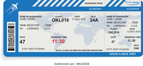 Vector illustration of pattern of boarding pass