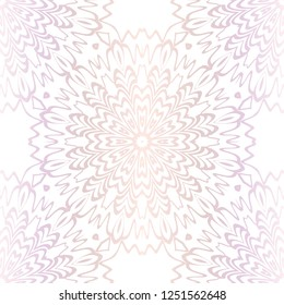 Vector Illustration. Pattern With Floral Seamless Ornament. Design For Print Fabric, Fashion