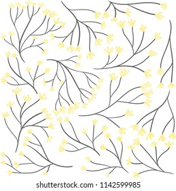 Vector illustration. A pattern with flowers.