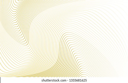 Vector illustration of the pattern of the golden lines abstract background. EPS10.