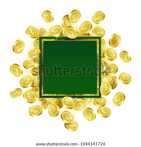165dfccdb08f Vector Illustration Pattern Green Square Frame Stock Vector (Royalty ...