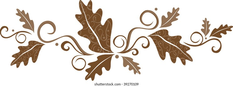 a vector illustration of patterned fall leaves