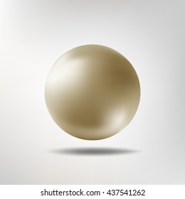 Vector illustration of pearl shape realistic ball. Easy to edit and use.