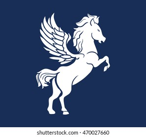 A vector illustration of Pegasus silhouette