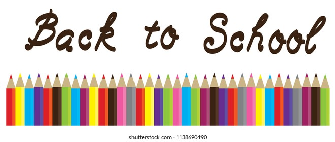 vector illustration of pencils raw back to school. education background.