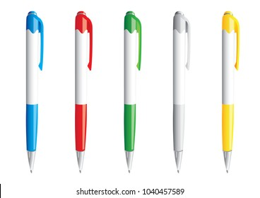Vector illustration of pens