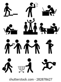 Vector illustration of a people in business