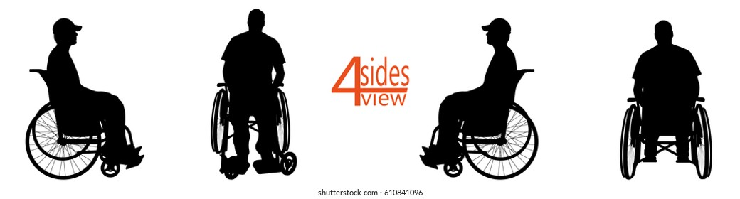 vector illustration people Wheelchair on a white background