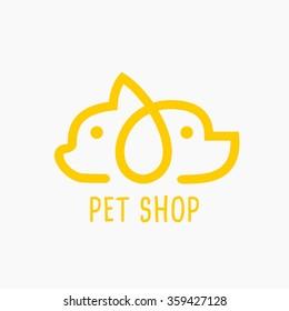 Vector Illustration Pet Shop Icon.