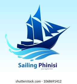 Vector illustration, Phinisi Indonesian Wooden Ship