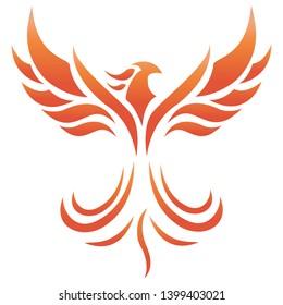 Vector illustration of Phoenix Fire Logo