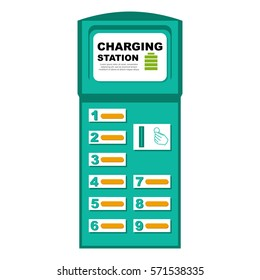 Vector illustration of phone charging station