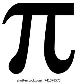 Vector illustration pi symbol icon isolated on white background