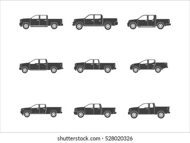 Vector Illustration of Pickup Truck
