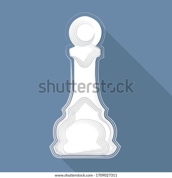 illustration vectorielle, un morceau d'échecs sur fond bleu