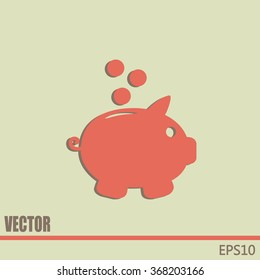 Vector illustration of piggy bank pig
