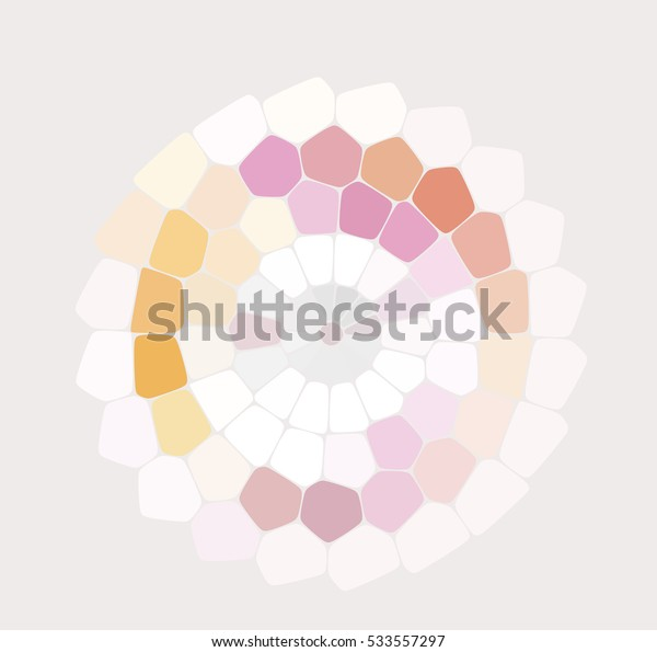 Vector Illustration - Pink Abstract Mosaic Stone Background