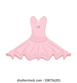 Vector illustration pink ballet dress. Ballet tutu for ballerina.
