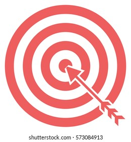 Vector Illustration of Pink Target Icon