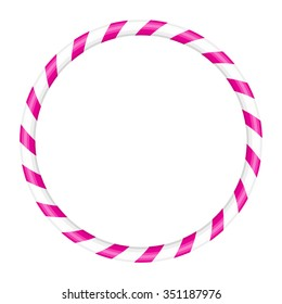Vector illustration of pink and white hoop