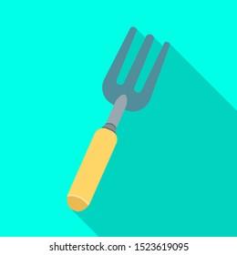 Vector illustration of pitchfork and fork symbol. Graphic of pitchfork and agricultural stock vector illustration.