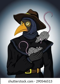 Vector illustration of plague doctor
