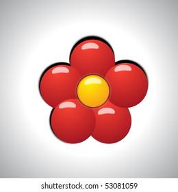 vector illustration plastic flower
