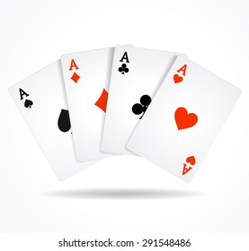 Vector illustration Playing Poker Cards. Winning hand