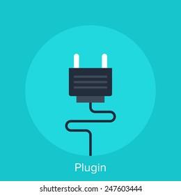 Vector illustration of plugin flat design concept.