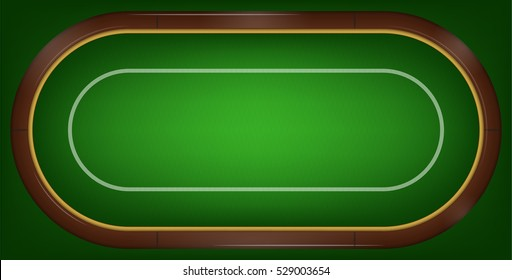 vector illustration of poker or black jack table. playing field in poker or black jack