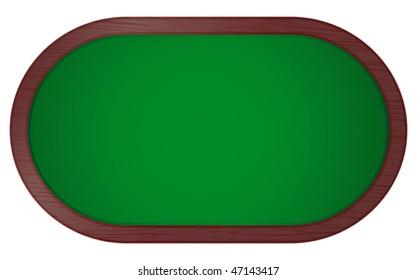 vector illustration of poker table