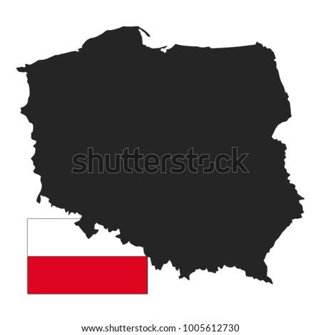 Vector Illustration Poland Map Flag Stock Vector (Royalty Free ...