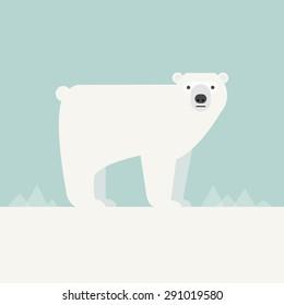 Vector illustration of a Polar Bear.