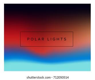 Vector illustration of polar lights in the sky.