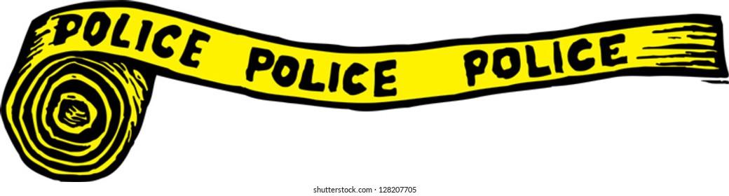 Vector illustration of police crime scene tape