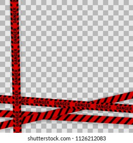Vector illustration.Red police line Warning tape, danger tape, caution tape.