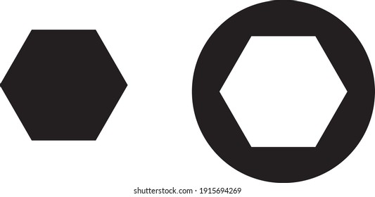 Vector illustration of polygon pixel perfect icon