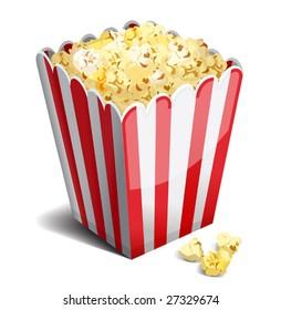 vector illustration of popcorn