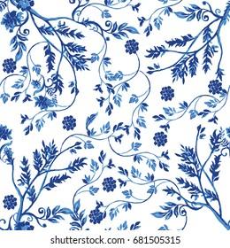 Vector illustration of porcelain pattern.