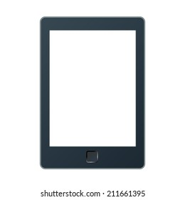 Vector illustration of a portable modern tablet pc e-book reader.