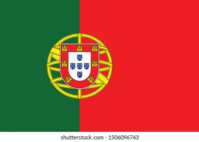 vector illustration of Portugal flag