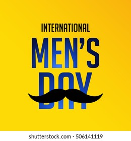 Vector illustration of a Poster or Banner For International Man's Day.