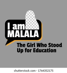 Vector illustration, poster or banner for Malala. The Girl Who Stood Up for Education
