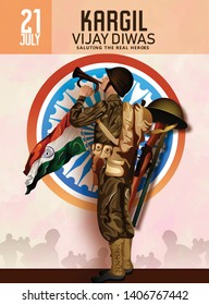 Vector illustration of Poster for salute indian army, amar jyoti, amar jawan and creative design illustration with brush stock