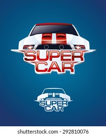 vector illustration powerful super sports car graphics for logo design of car interior or fast racing at high speed