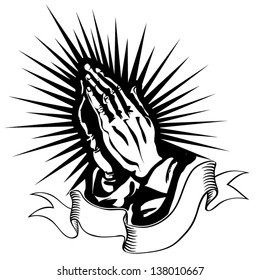praying hands images stock photos vectors shutterstock https www shutterstock com image vector vector illustration praying hands 138010667