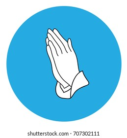 vector illustration of praying hands icon